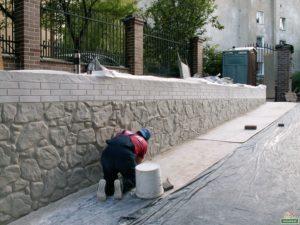 флекс-цемент / флекс-бетон, имитация камня